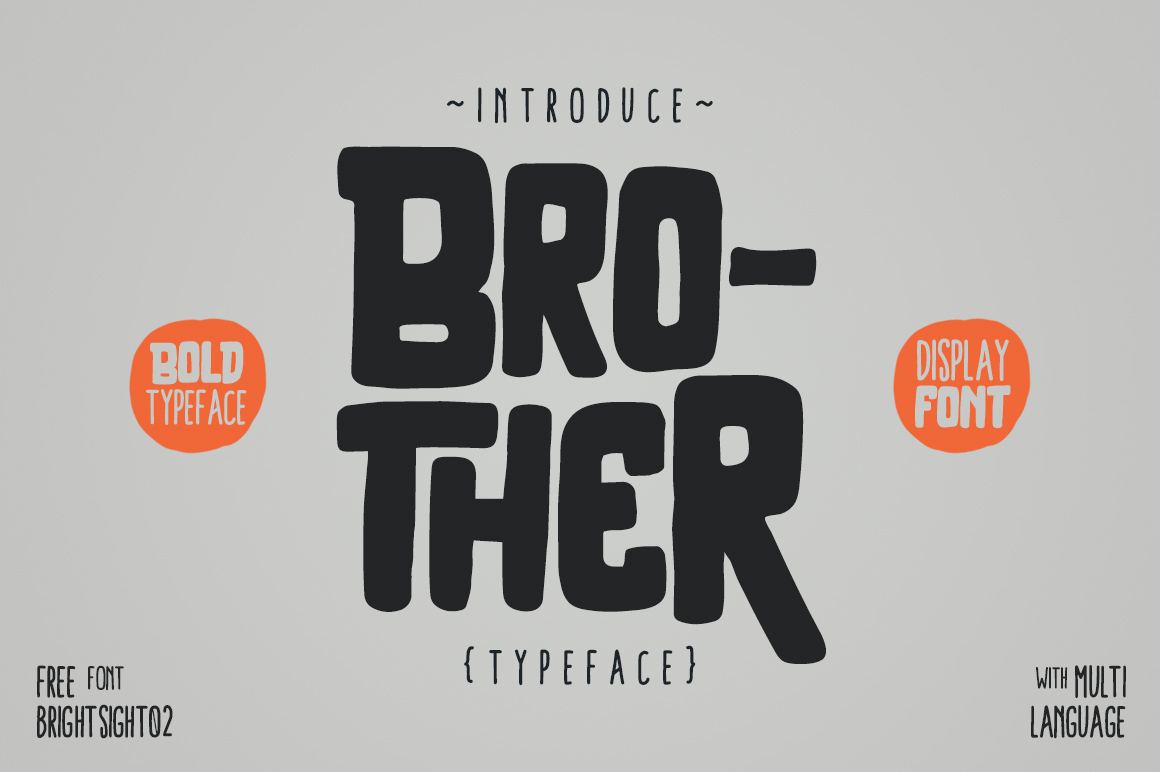 Brother Typeface example image 1