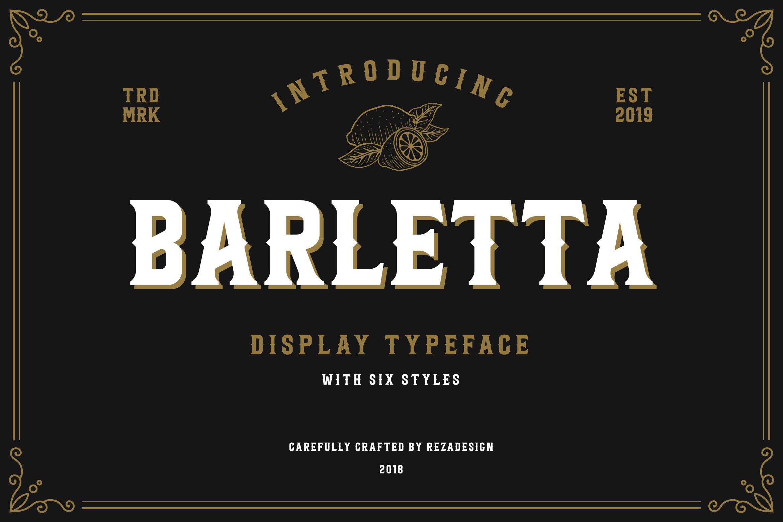 Barletta - Vintage Serif Font example image 1