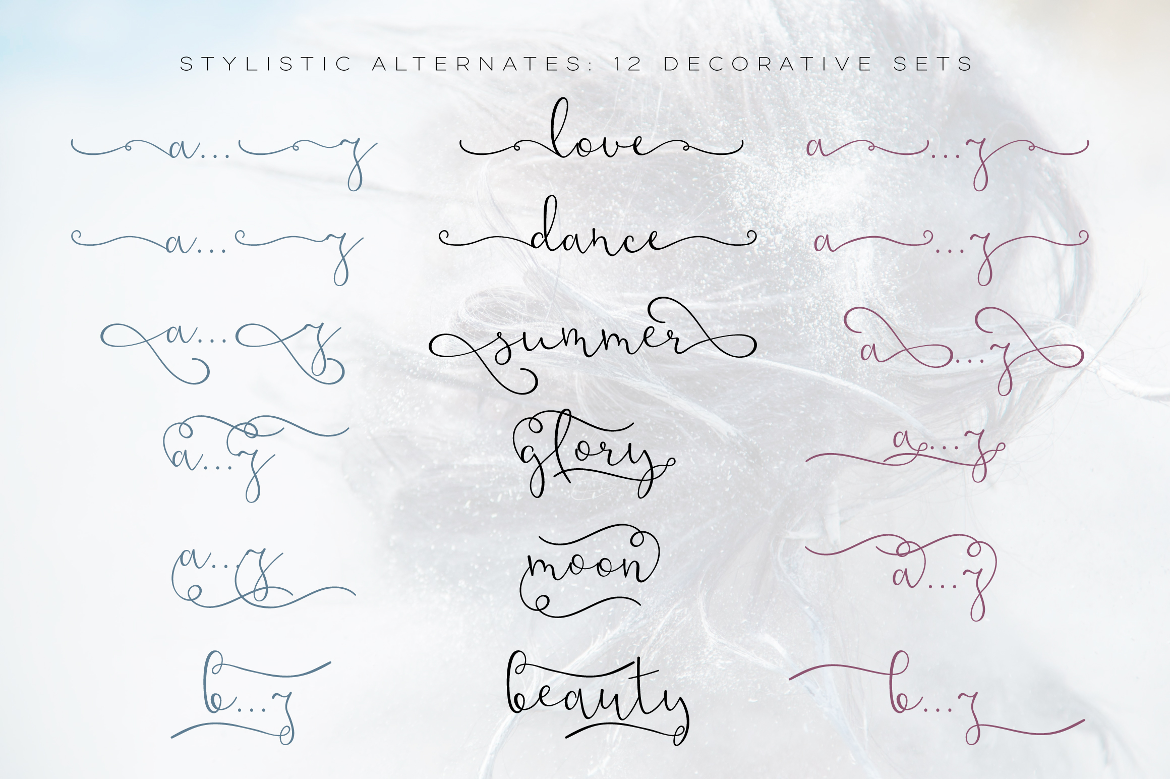 Noldor - calligraphy font with swashes example image 4