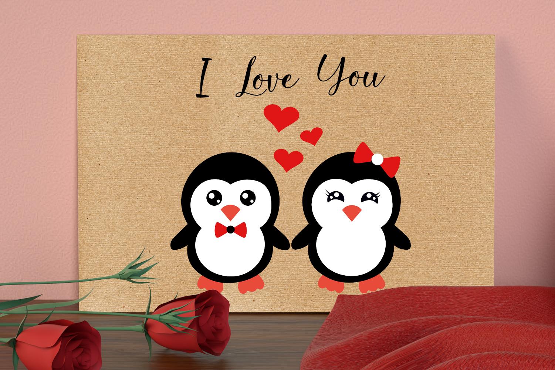 Valentine's Penguins Bundle Svg example image 6
