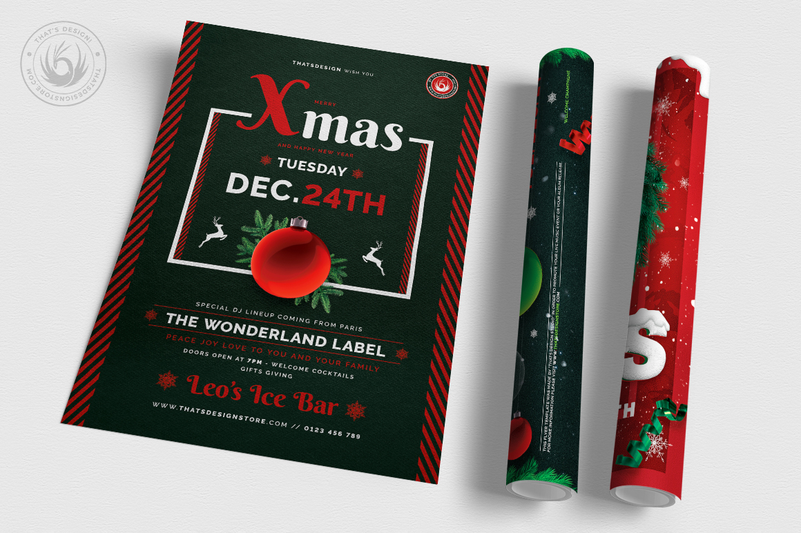 Christmas Eve Flyer Bundle V2 example image 6