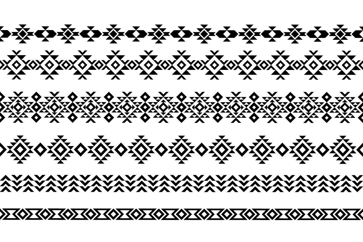 Aztec Pattern Brushes example image 2