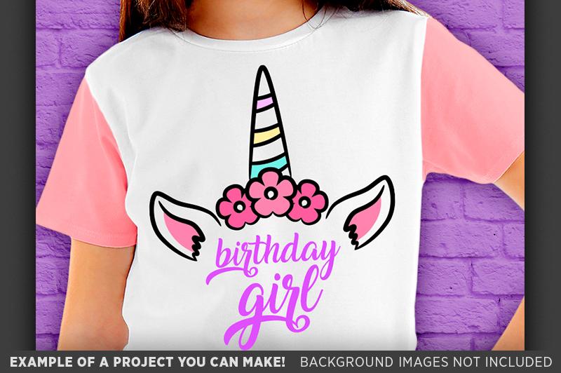 Birthday Girl SVG - Unicorn Birthday Girl SVG - 1013 example image 2