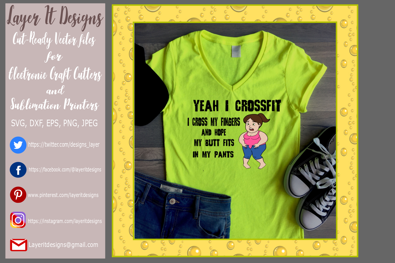 Funny Crossfit T shirt design example image 2