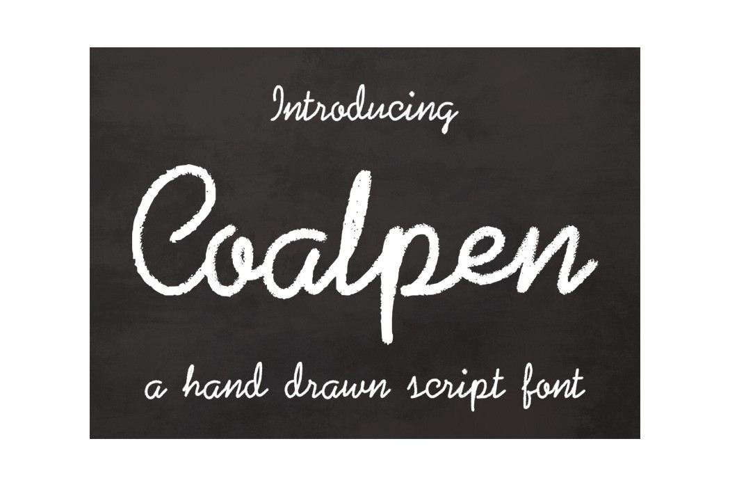 Coalpen font example image 2
