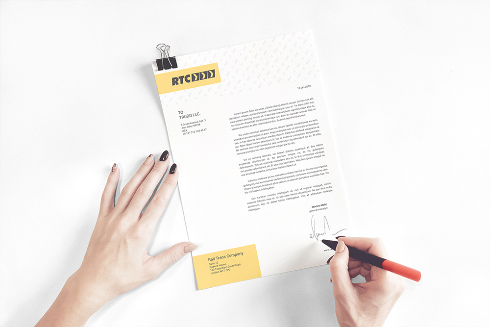 A4 Paper / Business Letter / Letterhead Mockup example image 4