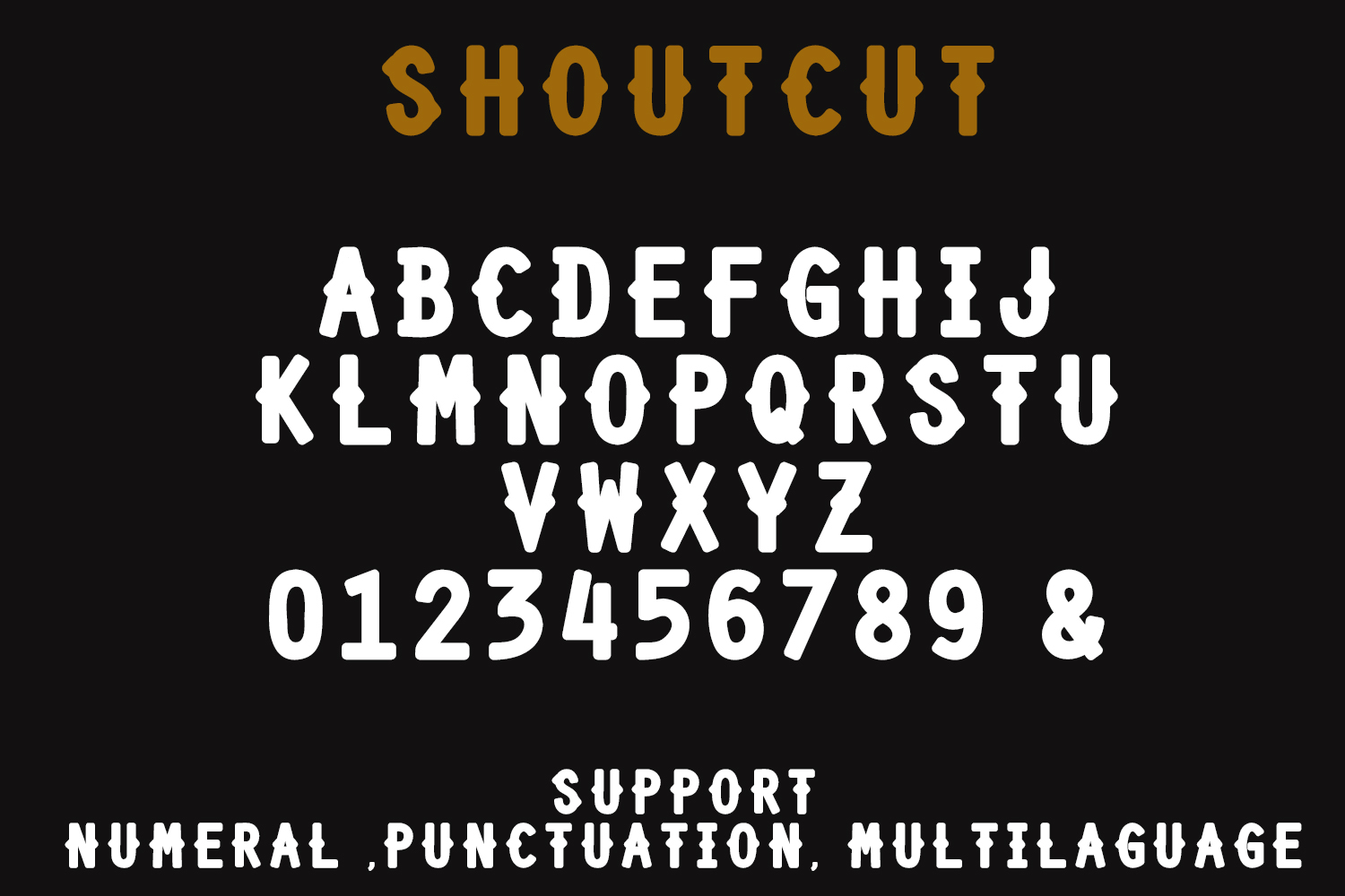SHOURTCUT Typeface - Display Font example image 4