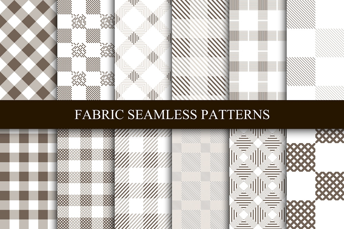 Fabric seamless patterns. example image 1