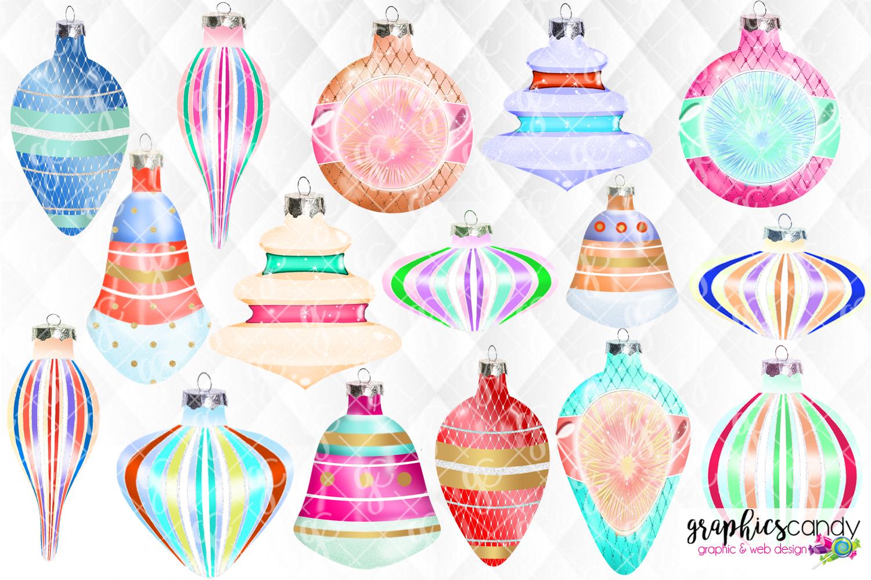 Vintage Christmas Ornament Clip Art example image 2