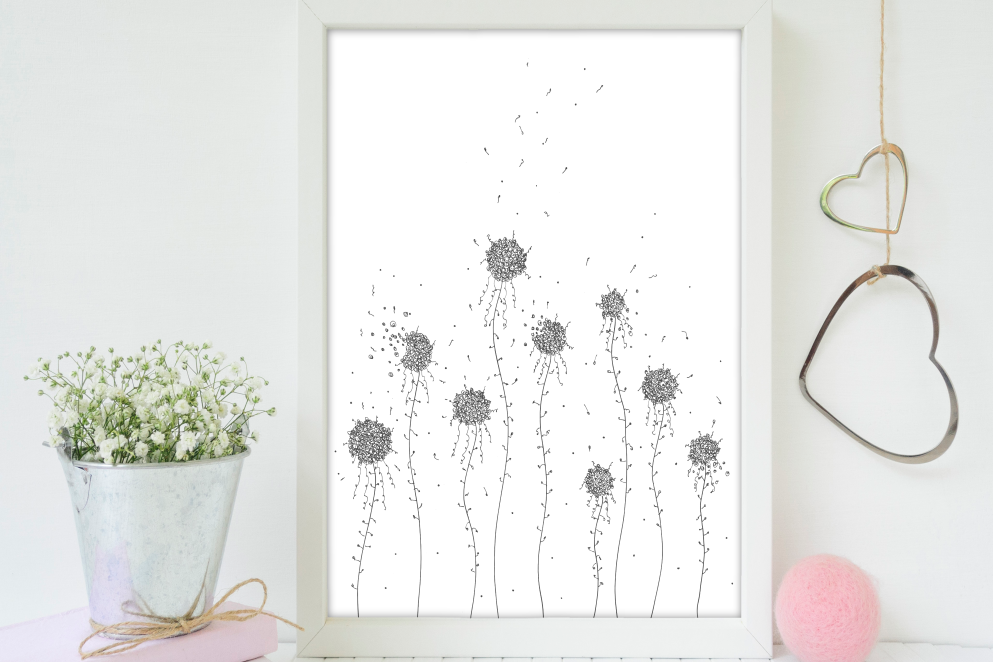 Floral Hand Drawn Doodle Art, A1, SVG example image 5