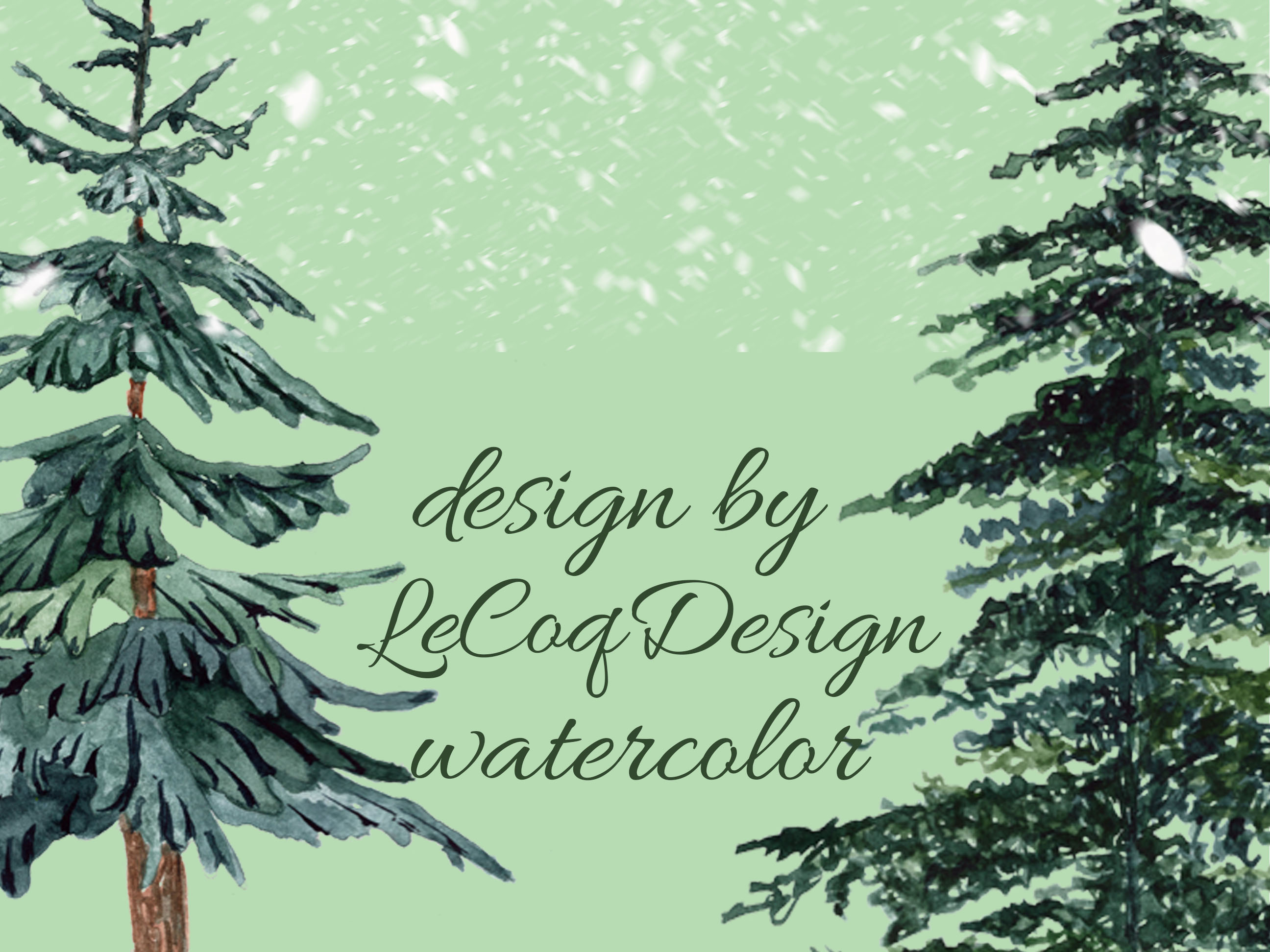 Conifers trees clipart example image 2