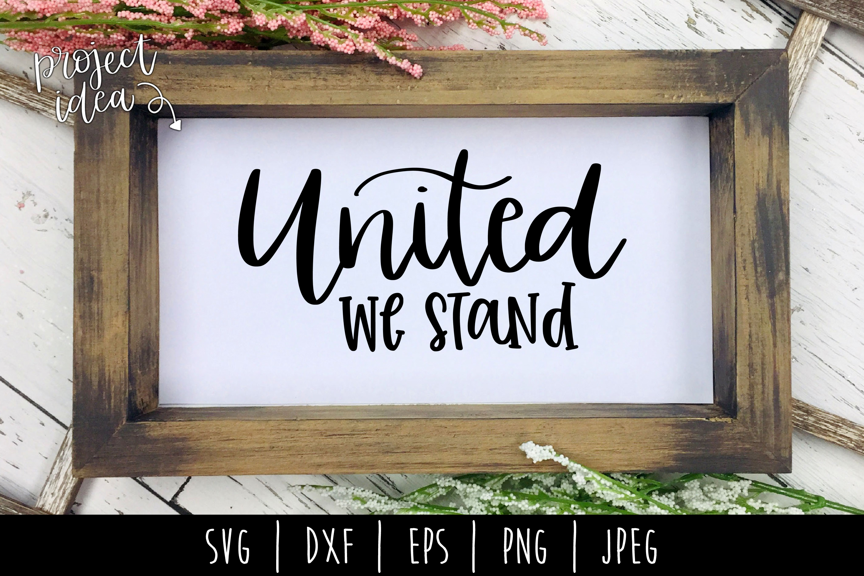 United We Stand SVG, DXF, EPS, PNG JPEG example image 2