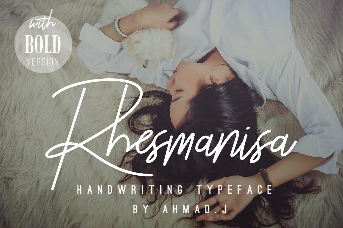 Rhesmanisa Script Font example image 1