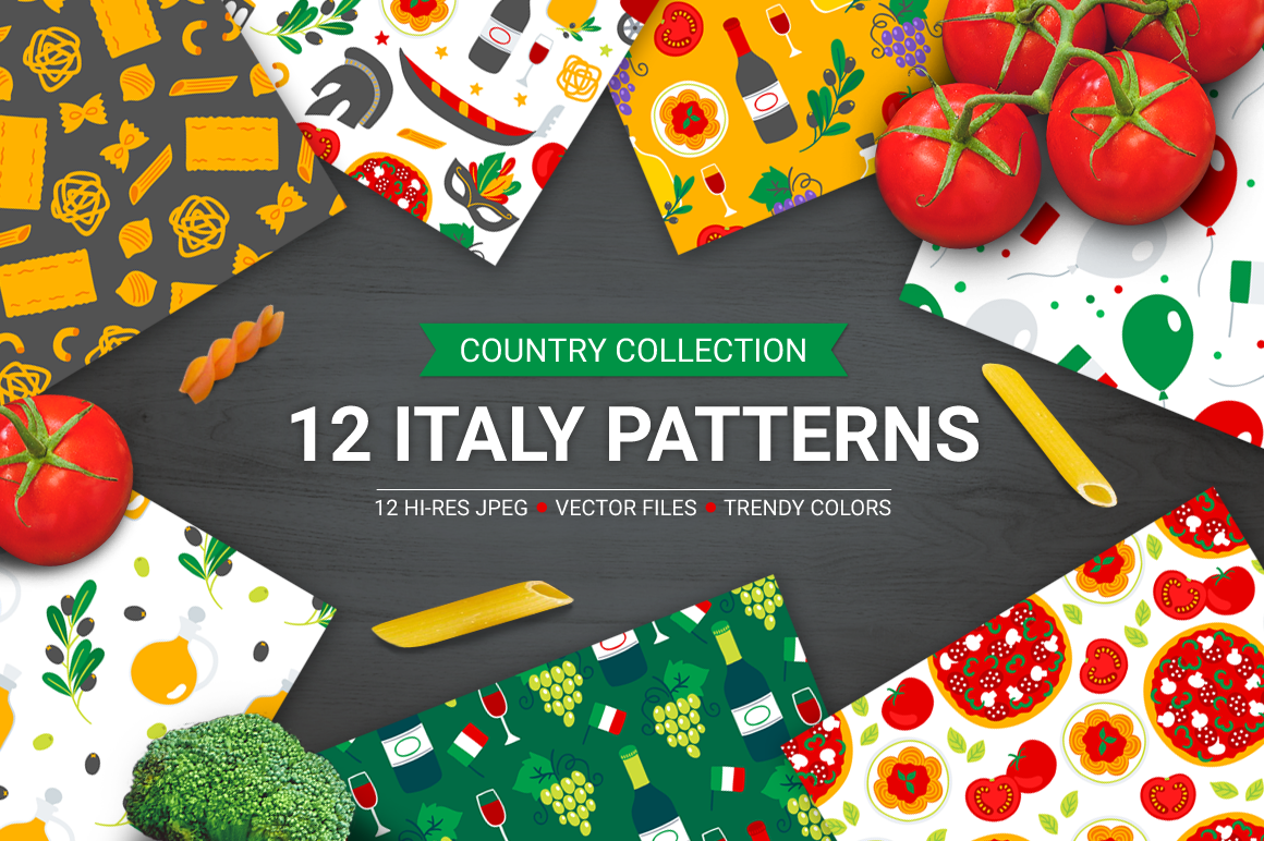 12 Italy Seamless Patterns example image 1