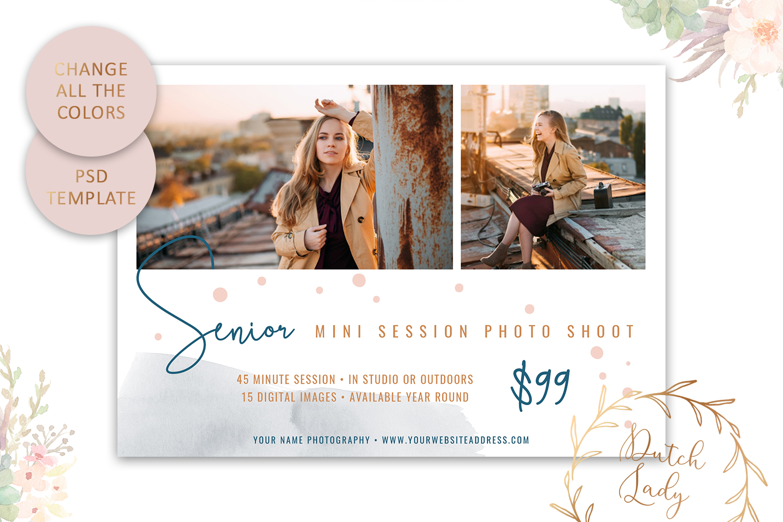 PSD Photo Mini Session Card Template - Design #32 example image 4