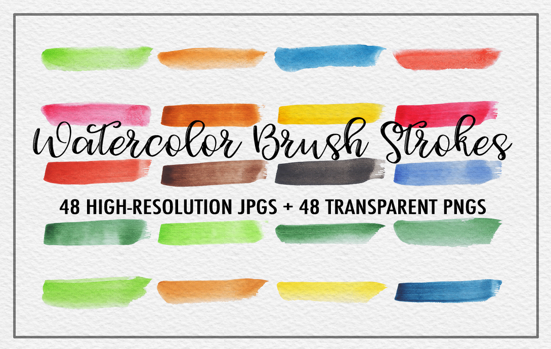 Watercolor Brush Strokes example image 2