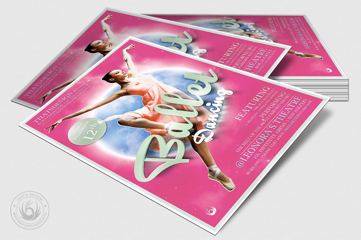 Dance Ballet Flyer Template V2 example image 4