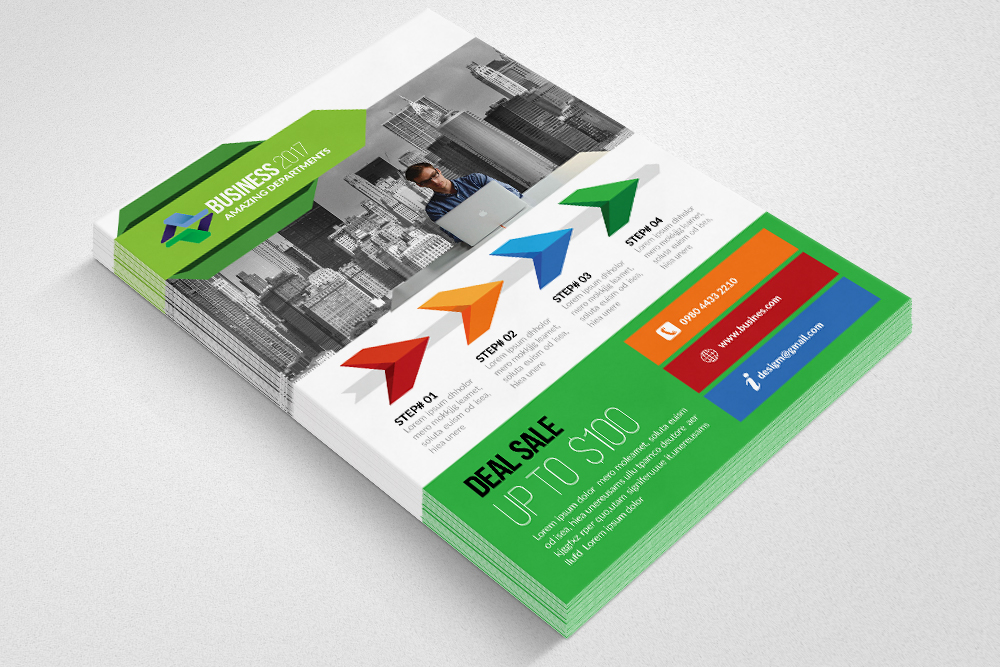 Marketing Consultant Flyer Templates example image 3