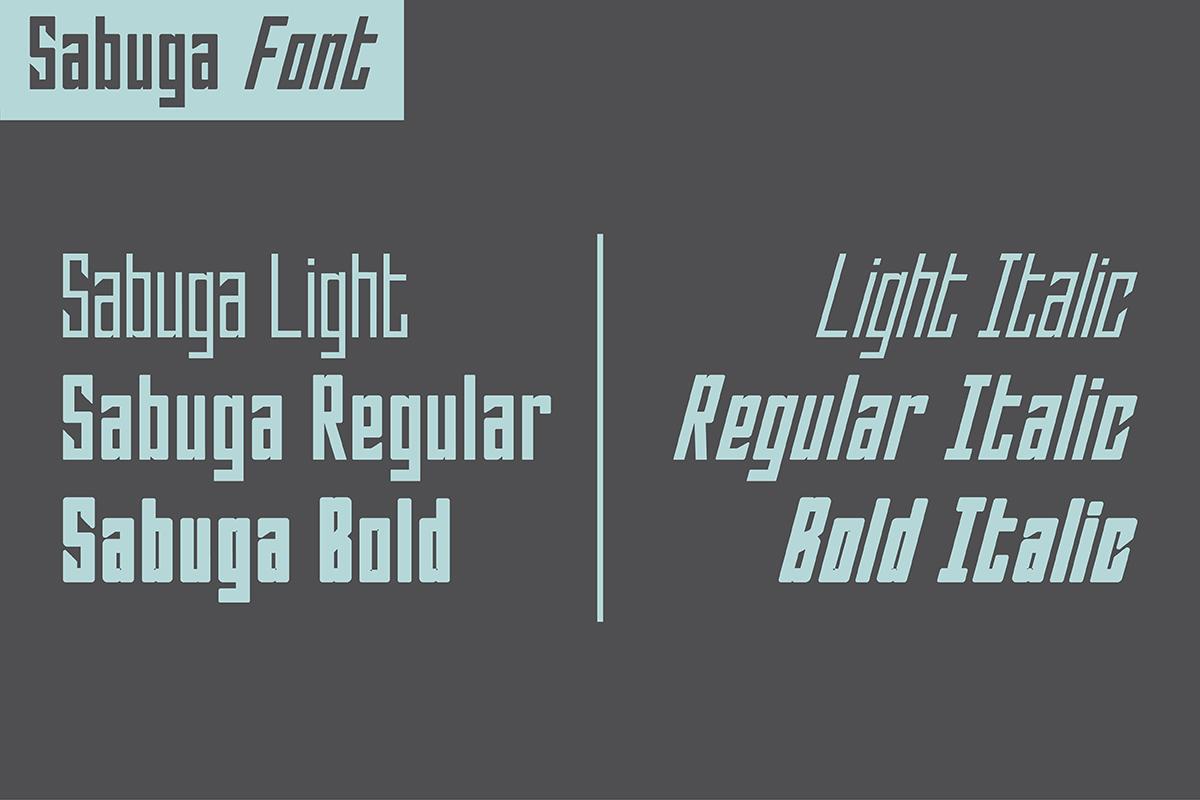 Sabuga Font example image 2