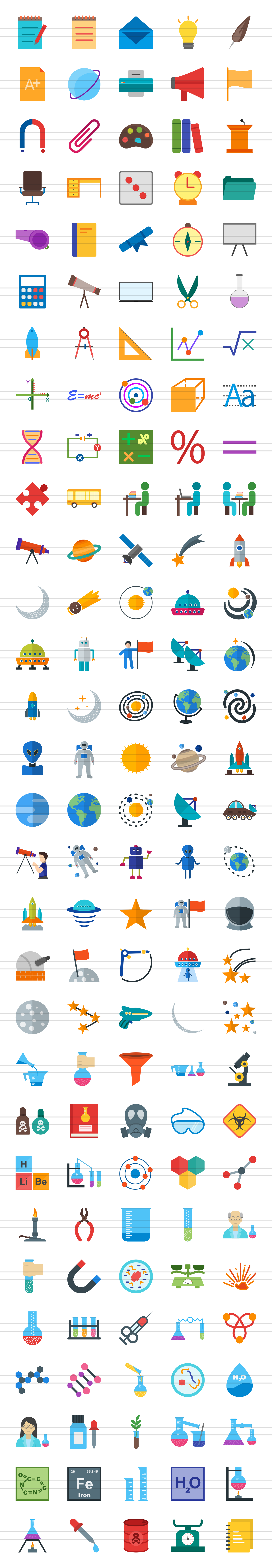 150 Science Flat Icons example image 5