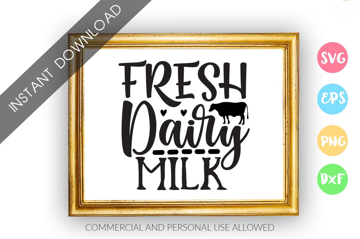 Fresh dairy milk SVG Design example image 1