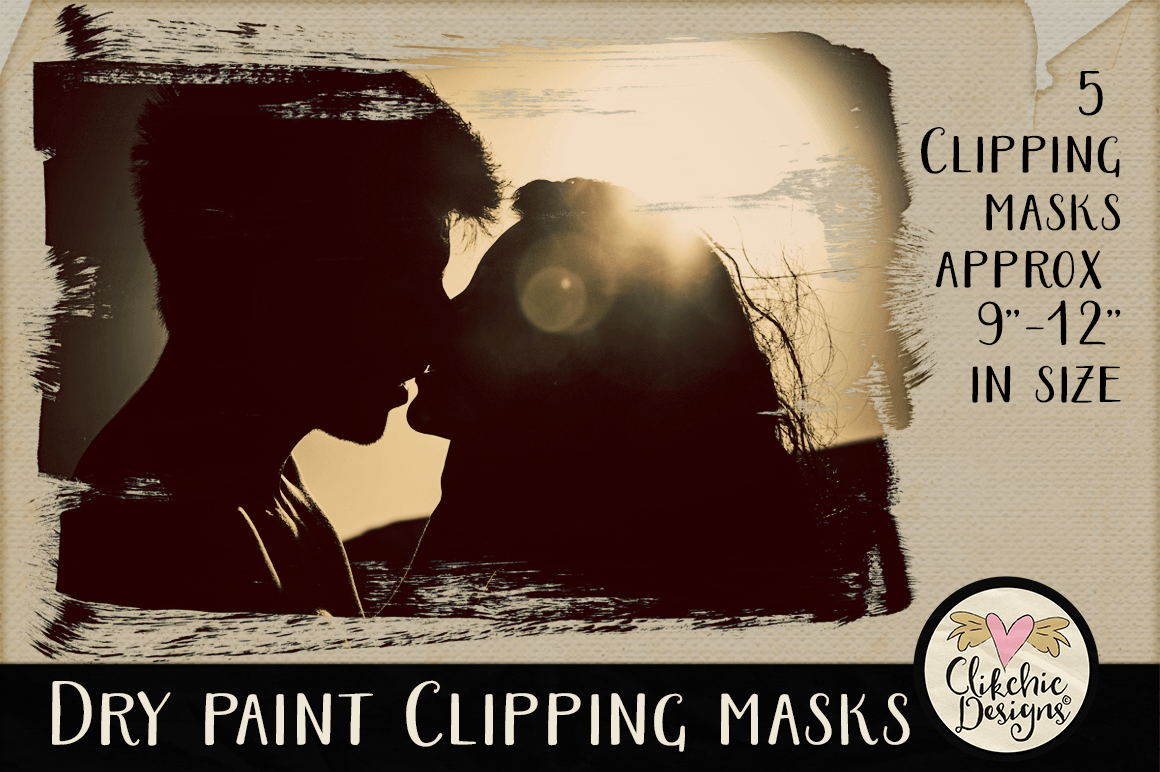 Dry Paint Photoshop Clipping Masks & Tutorial example image 2