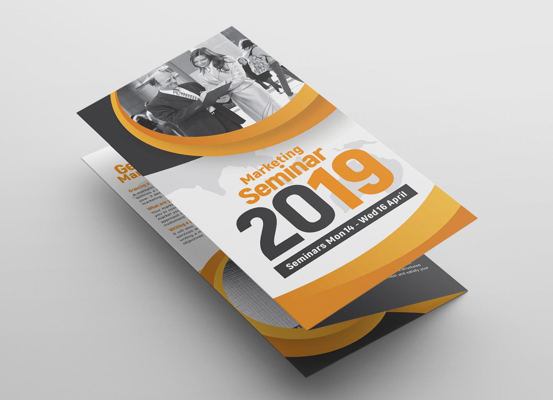Marketing Seminar Tri-Fold Brochure Template example image 3