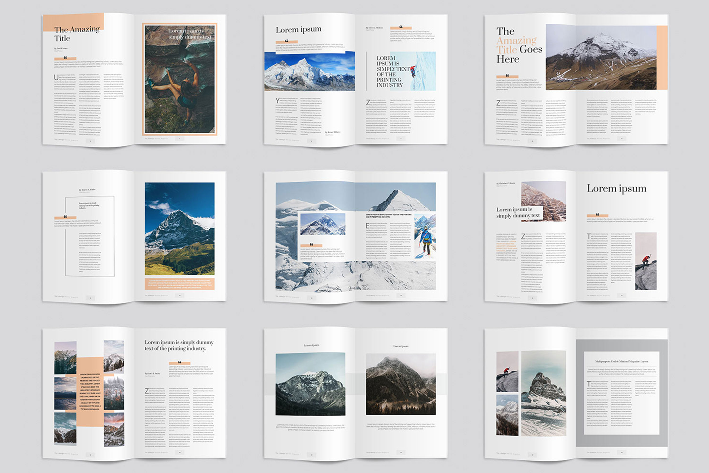 Modern InDesign Magazine Template example image 4