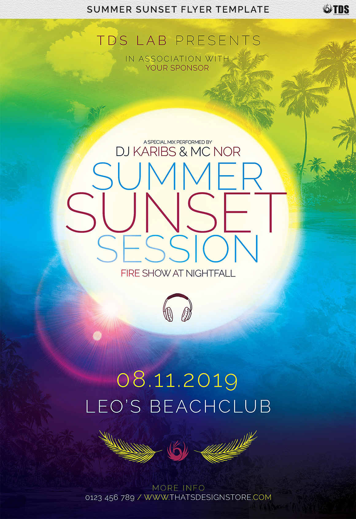 Summer Sunset Flyer Template example image 7