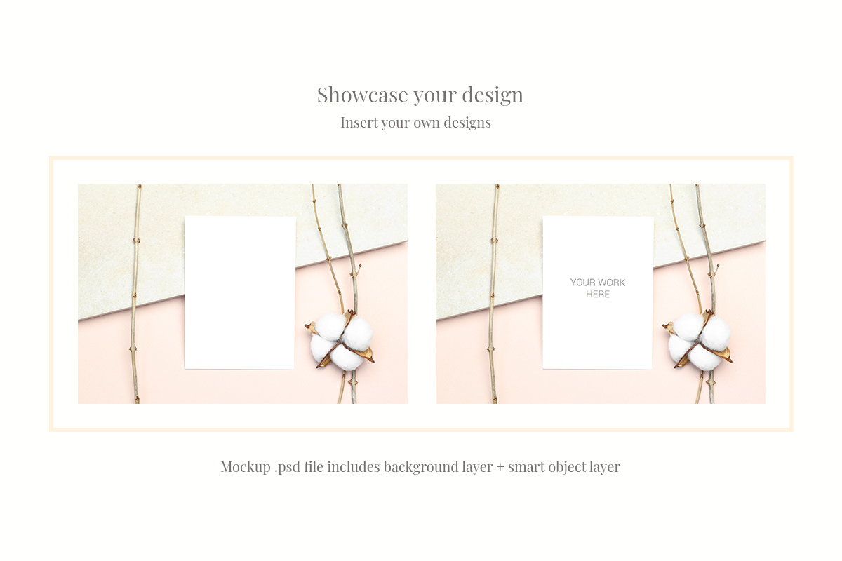 Invitation Card Mockups With Branches example image 2