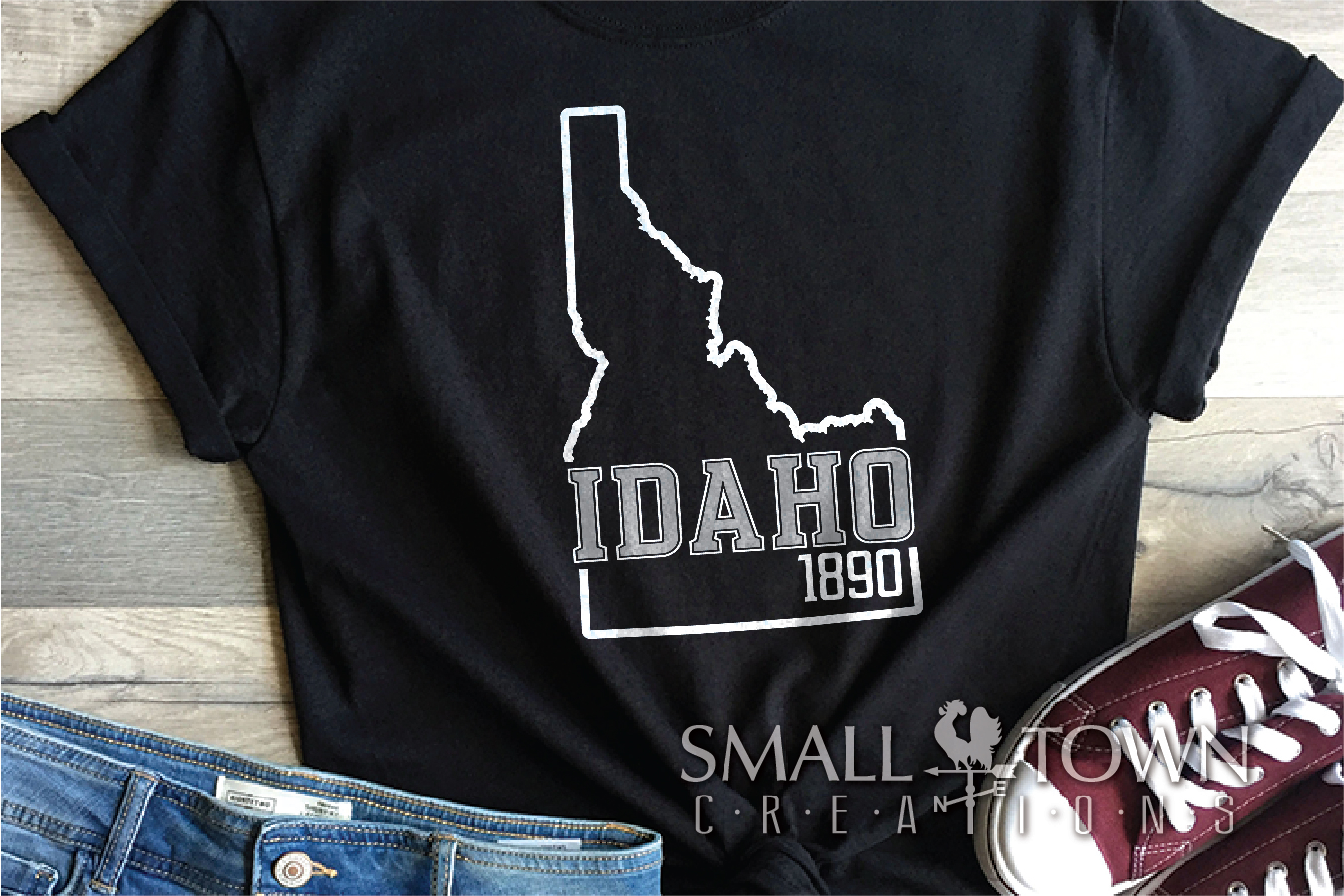 Idaho, Famous Potatoes- slogan, Logo, PRINT, CUT & DESIGN example image 4