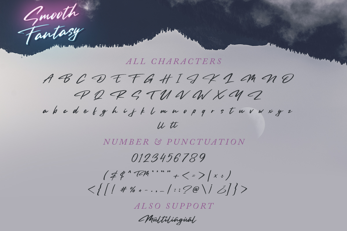 Smooth Fantasy Script example image 7