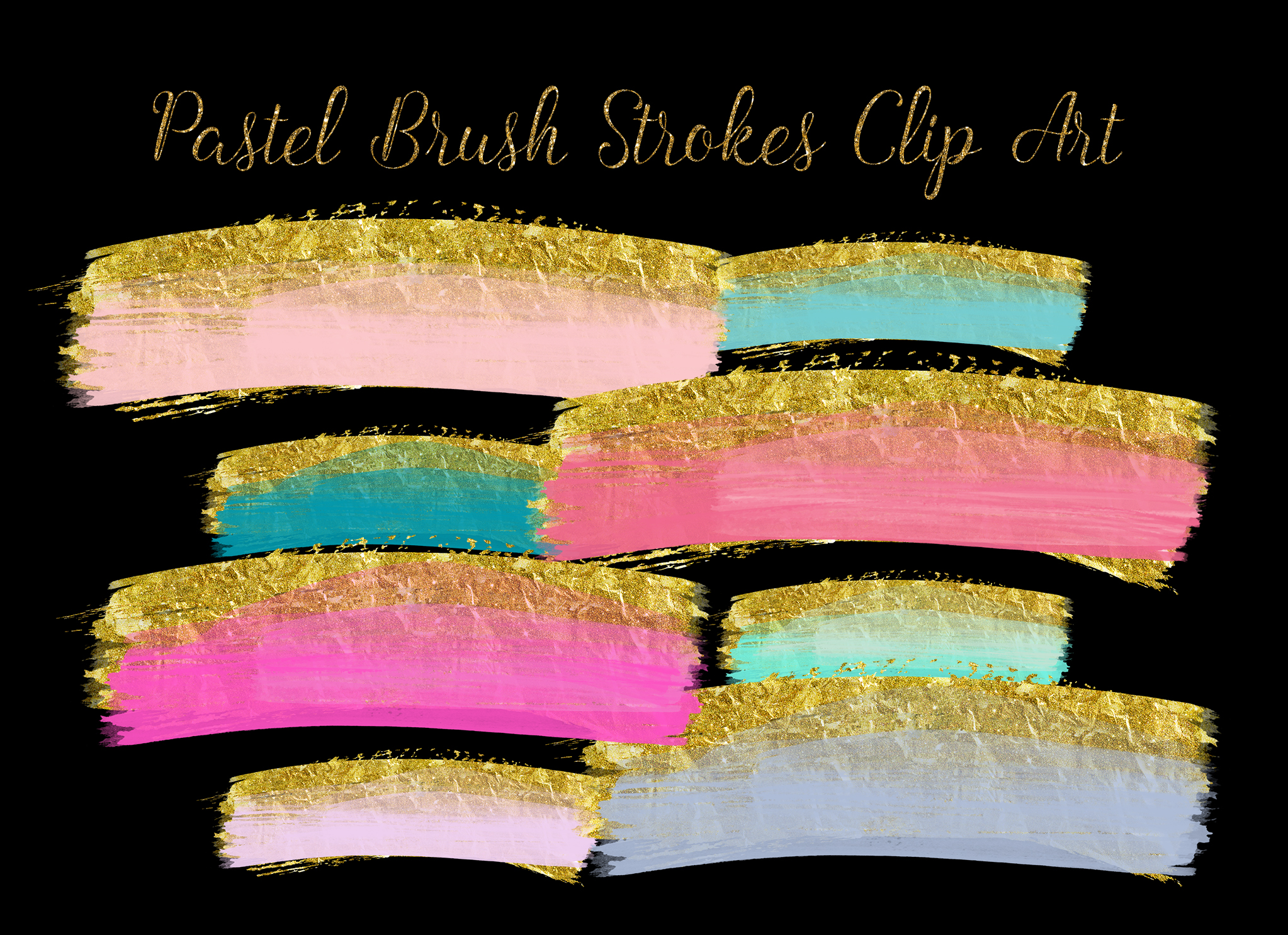 brush strokes clip art, gold brush clipart, gold paint clipart, wedding gold Paint Clipart, gold ink strokes clipart, watercolor clip art example image 3