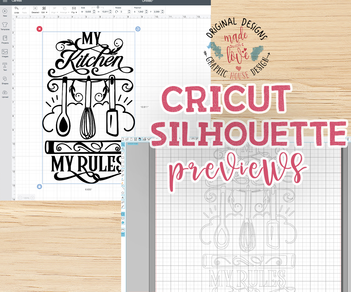 My Kitchen My Rules Cut File and Printable SVG, DXF, PNG example image 2