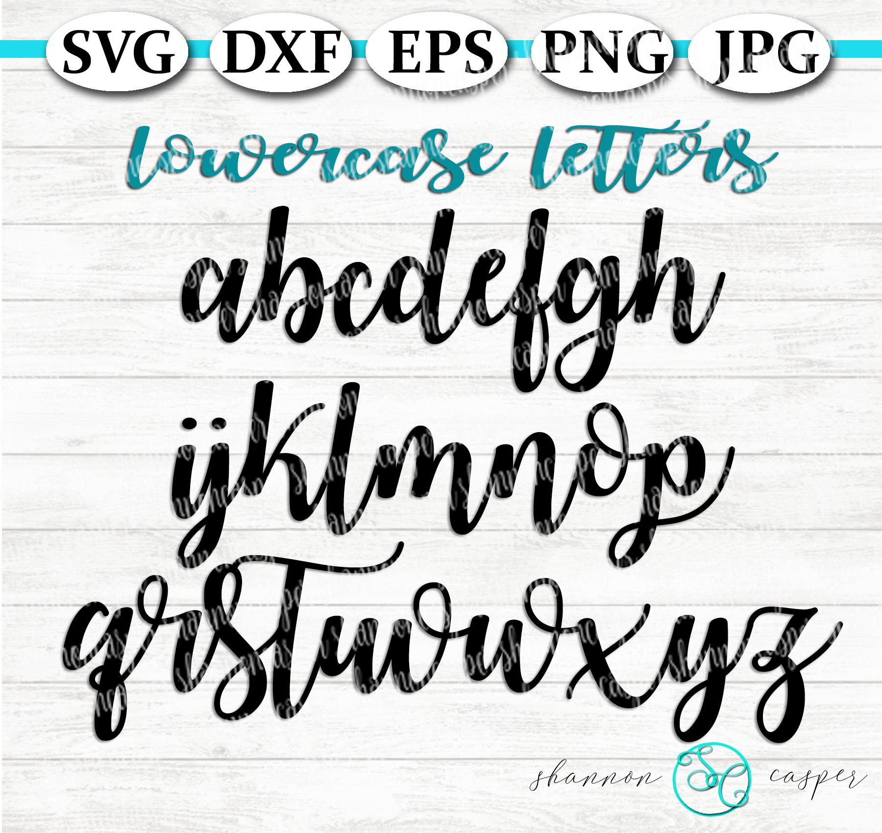 Script SVG Font Letter and Number Set example image 3