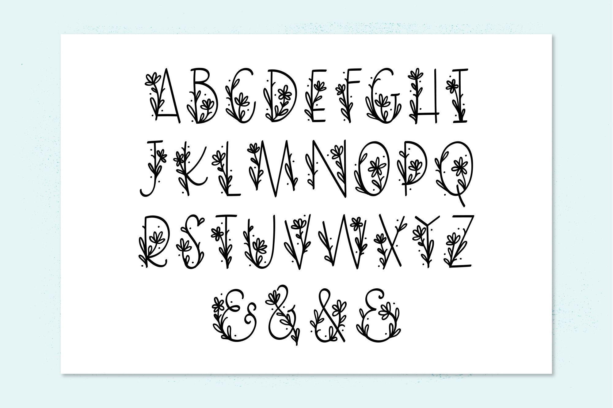 Daisy Monogram Font example image 2
