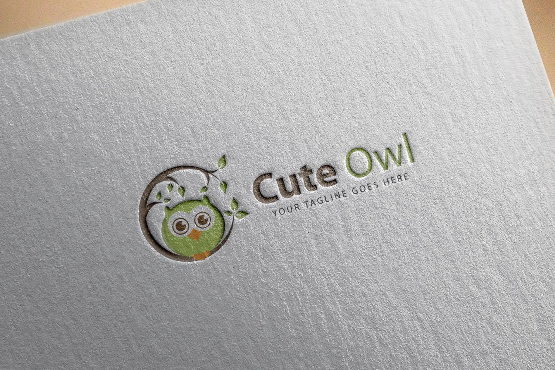 Cute Owl Bird Logo example image 2