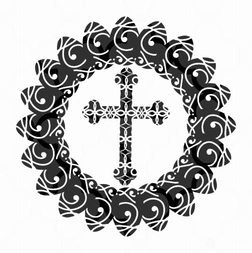 Cross Mandala SVG - Easter Cut files example image 2