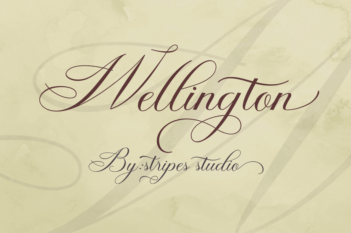 Wellington Script example image 9