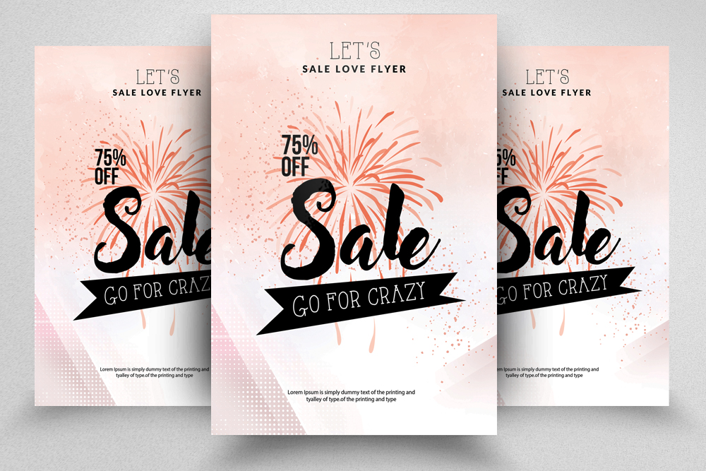 Sale Offer Typography Flyer Template example image 3