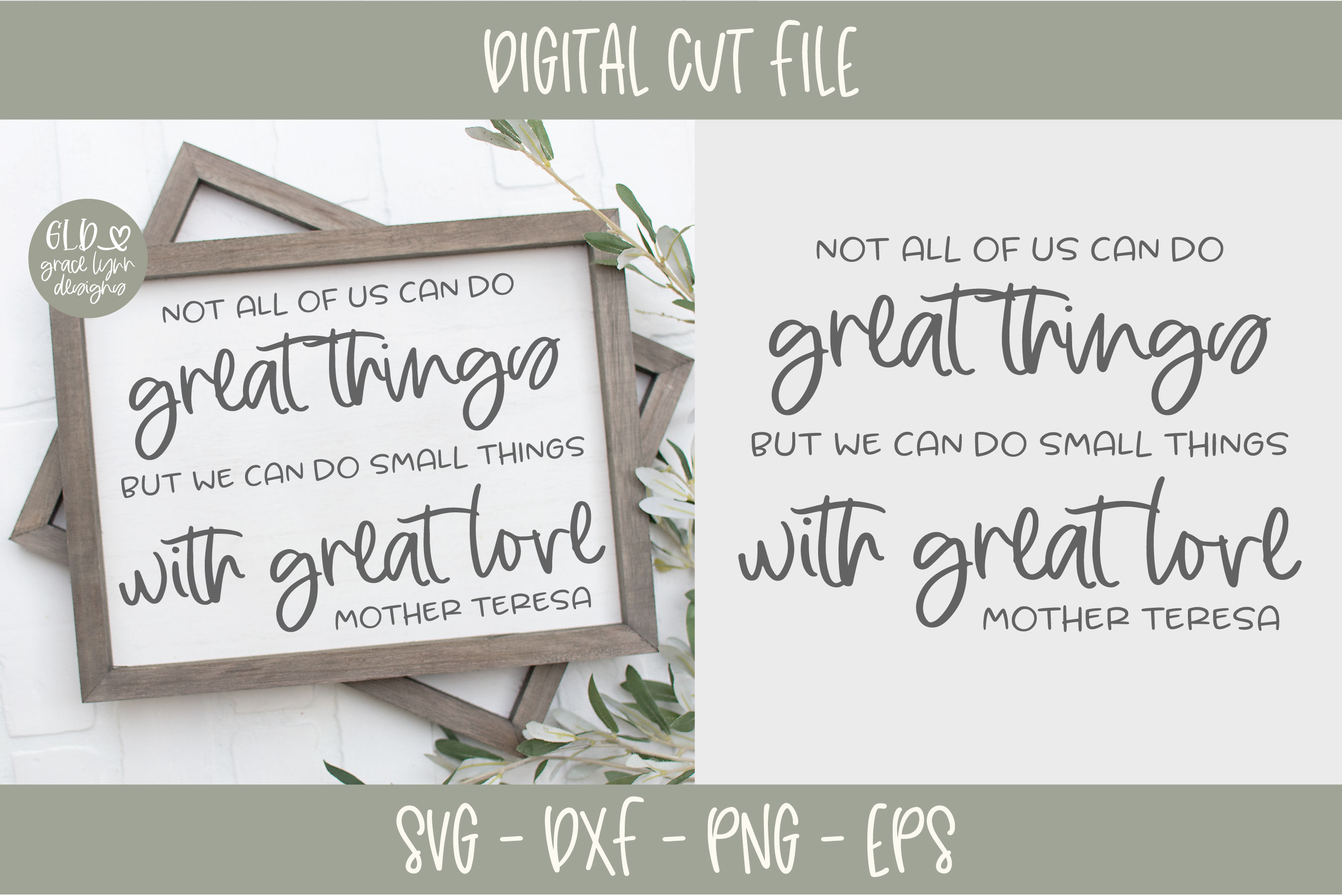 Download Small Things With Great Love - SVG (302763) | Cut Files ...