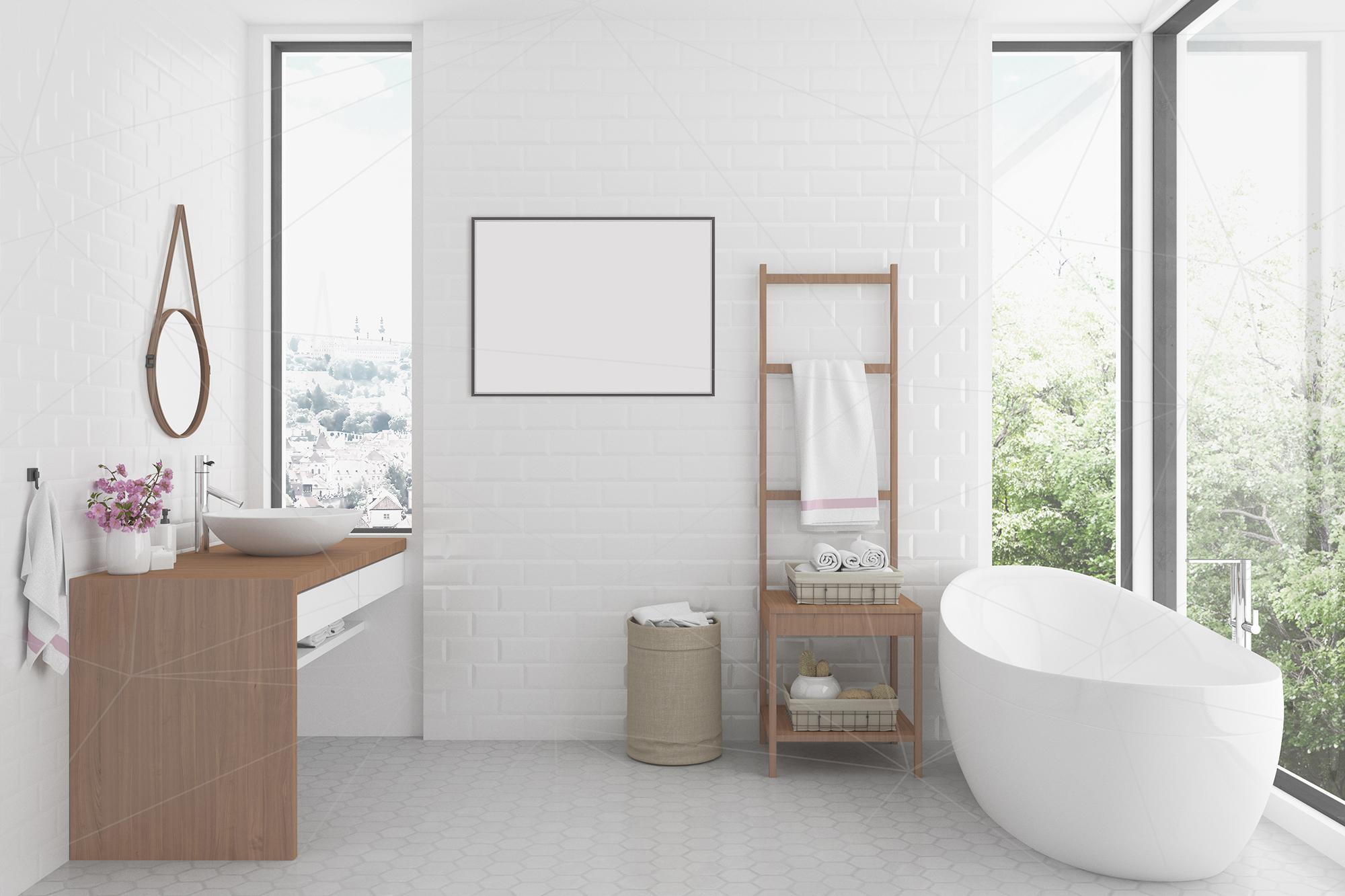 Interior mockup bundle - bathroom background example image 3