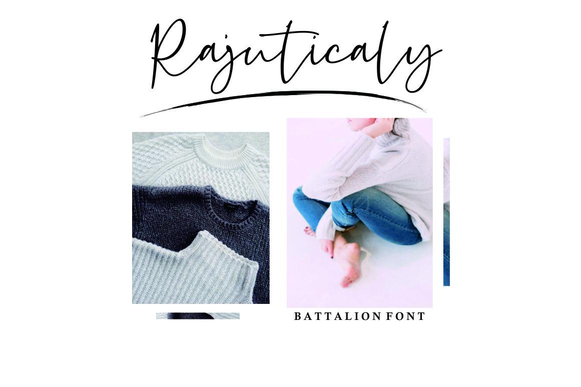 Battalion // handwitten font example image 3