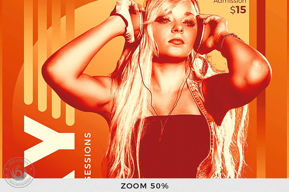 DJ Session Flyer Template V8 example image 7