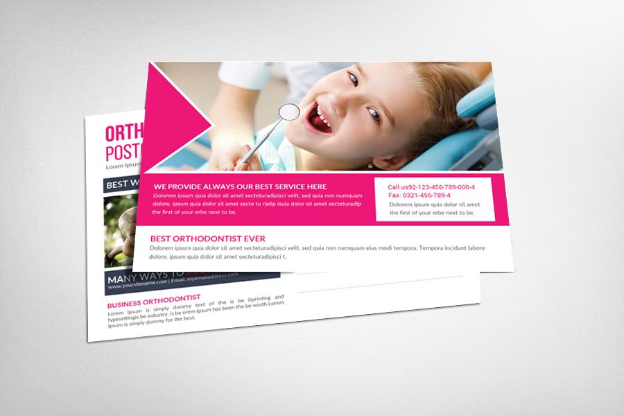 Orthodontist Postcard Template example image 1