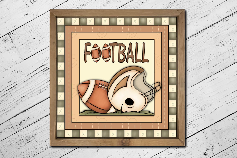 Football Square Print example image 3
