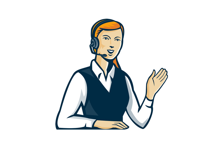 Telemarketer Call Center Operator Retro example image 1
