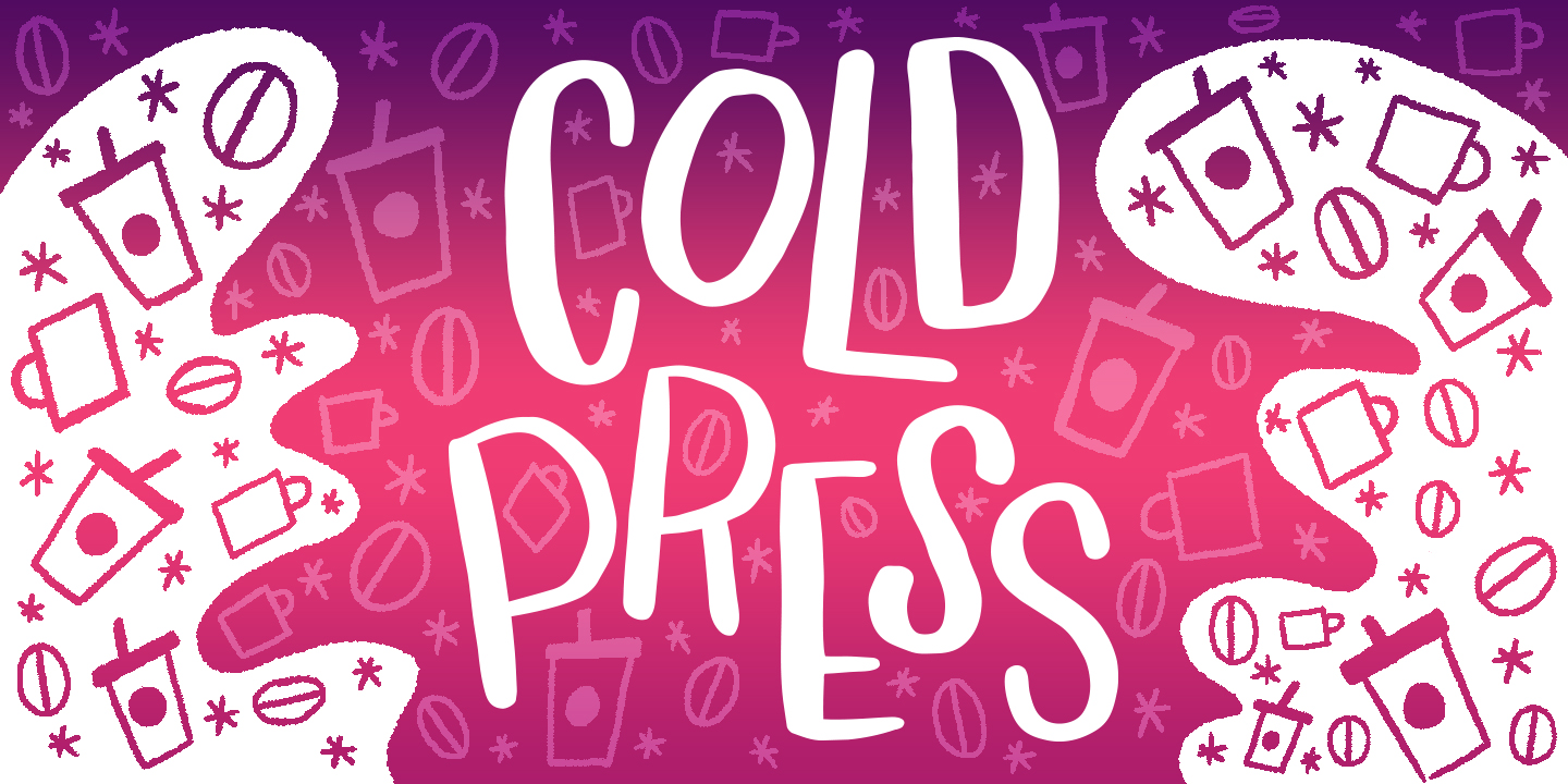 Cold Press Font example image 1