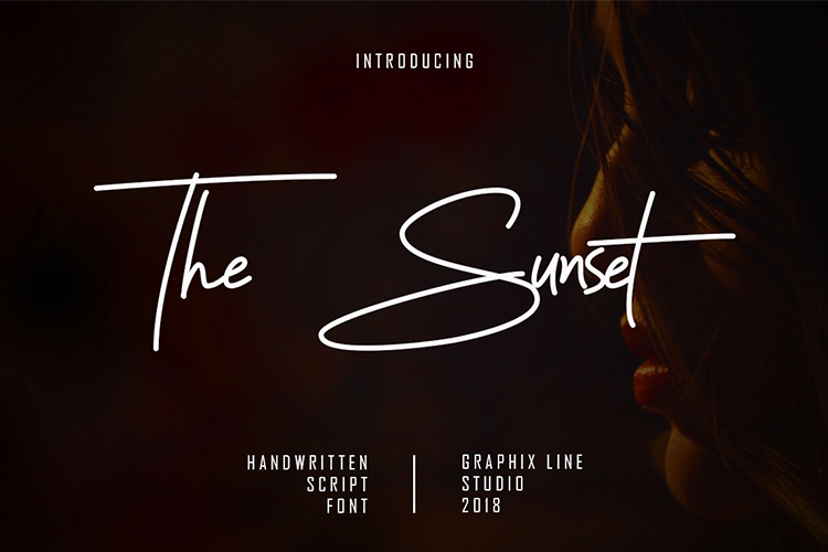 The Sunset Script Font example image 1