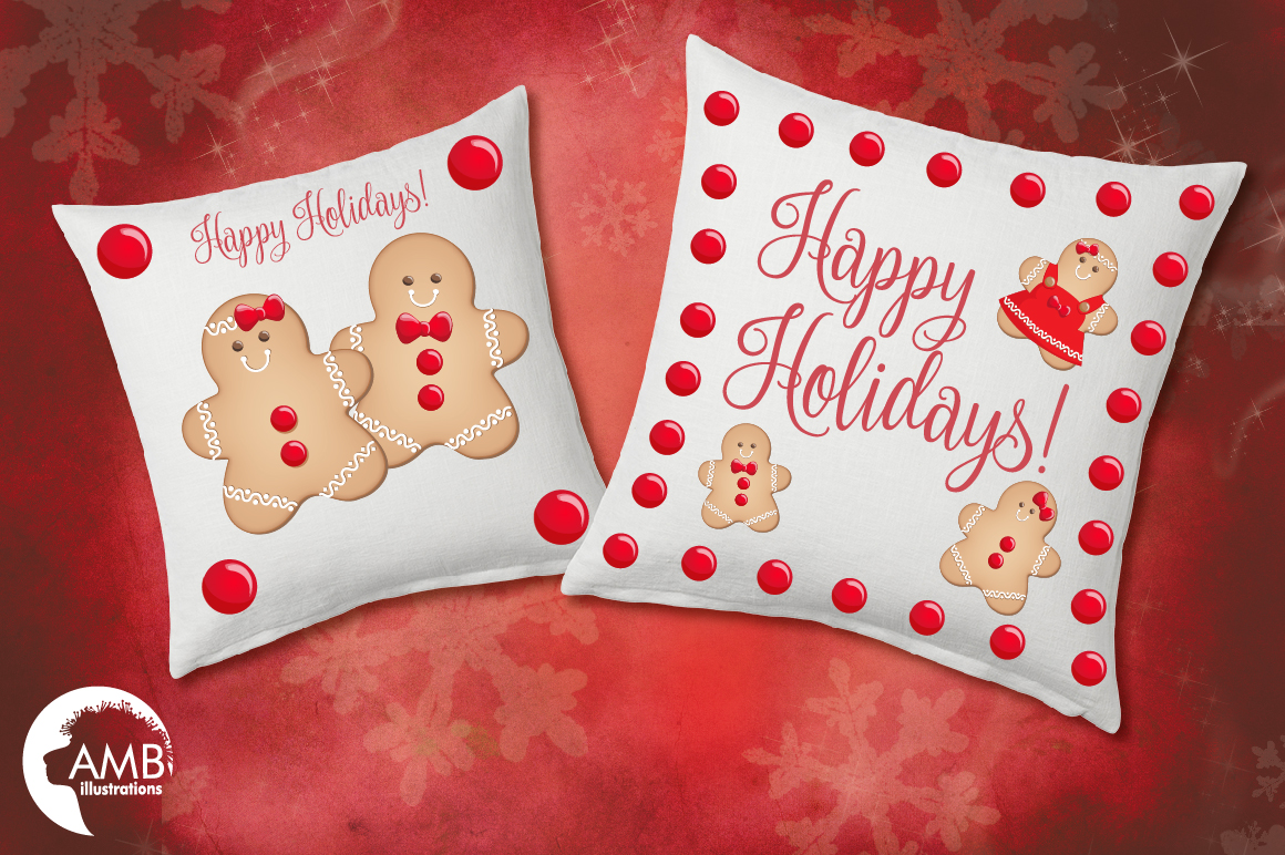 Christmas Cookie Clipart, GRAPHICS, ILLUSTRATIONS AMB-1502 example image 3